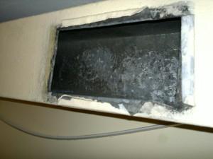 Luftekanalene i vaskeriet etter rensing